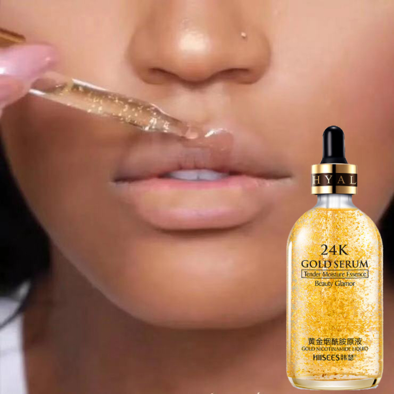 Glitter Primer Makeup 24K Gold Elixir Essence Oil Control Face Moisturizer Whitening Base Make Up Pore Minimizer Skin Serum