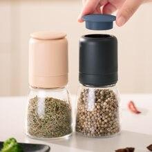 Nordic stil manuelle salz und pfeffer grinder pulverisierer gewürz glas würze flasche pfeffer korn mühle edelstahl pfeffer sprayer
