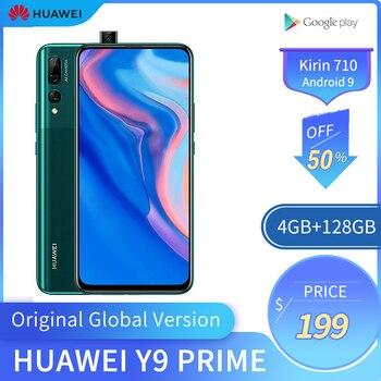 Перейти на Алиэкспресс и купить Оригинальный мобильный телефон HUAWEI Y9 Prime, 4G RAM, 128 ГБ ROM, Kirin710, смартфон, экран 6,59 дюймов, мобильный телефон, поддержка Google Play