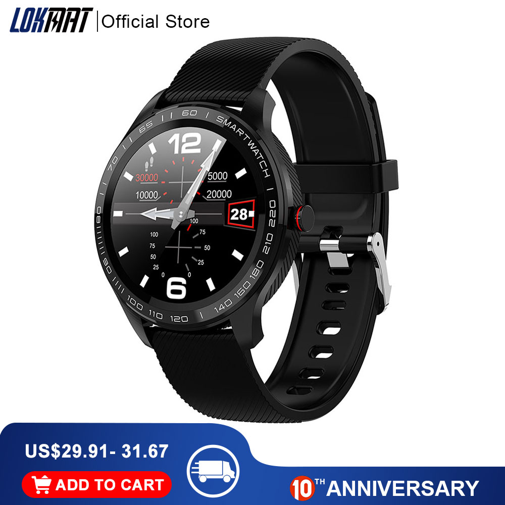 LOKMAT Smart Watch Full Touch Men ECG PPG Waterproof Bluetooth Heart Rate Blood Pressure Fitnesss Tracker Smartwatch For Xiaomi