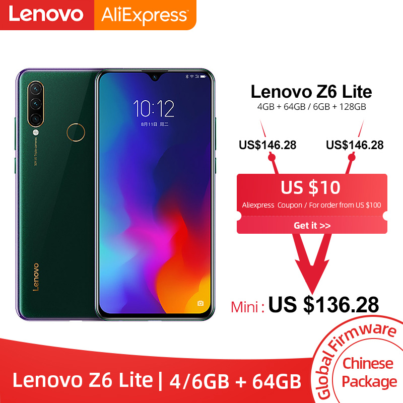Lenovo Snapdragon 710 Z6-Lite 4GB LTE/WCDMA/GSM Quick Charge 3.0 Bluetooth 5.0/5g wi-Fi