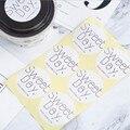 60 teile/paket süße tag Runde dicht aufkleber dank/genießen Dessert kuchen pudding box dekoration handgemachte papier tasche verpackung