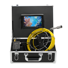 Lixada 30M Sewer Endoscope Drain Pipe Inspection Video Camera Pipeline Industrial Endoscope Night Vision Camera With 12 LED 40m cable pipeline sewer inspection camera with keyboard dvr function endoscope cmos lens waterproof night version cctv system