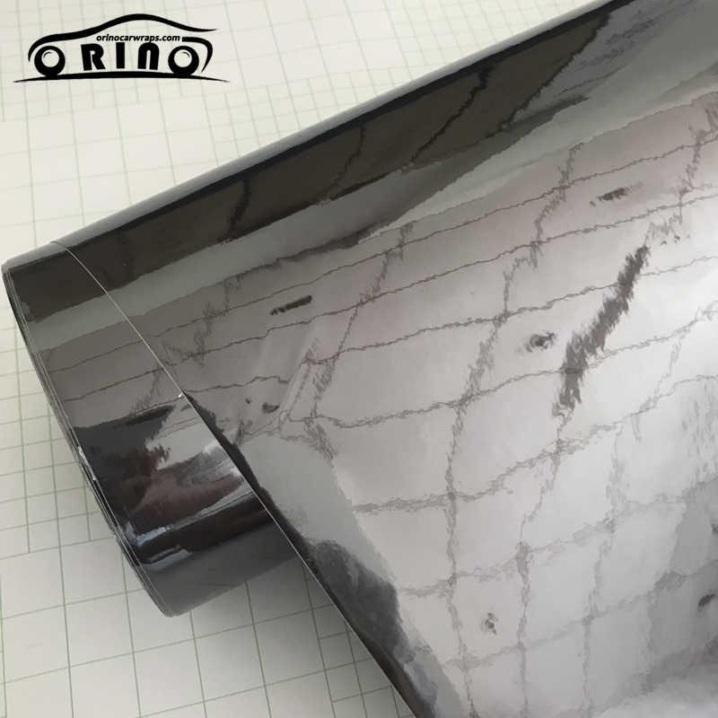 Air Free Vehicle Adhesive Decal Film Black Mirror Chrome Vinyl Sticker Wrap