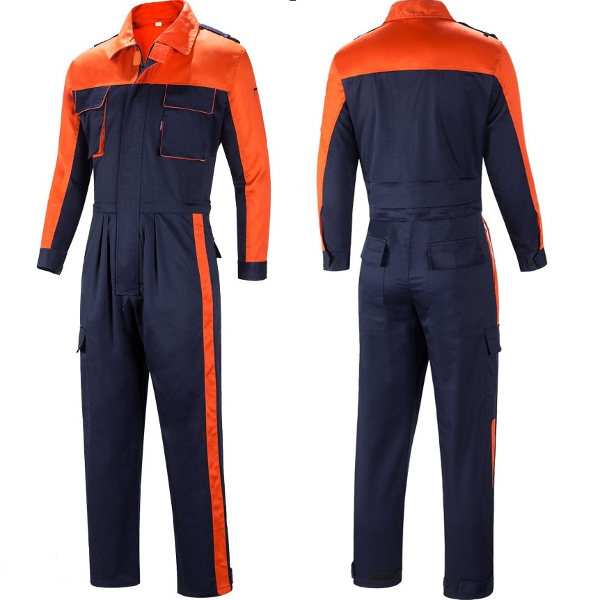 Men Working Overall Dust Proof Long Sleeve Coverall Wear Resistant Multi Pocket Uniform Waist Zipper Repair Mechanical Jumpsuits