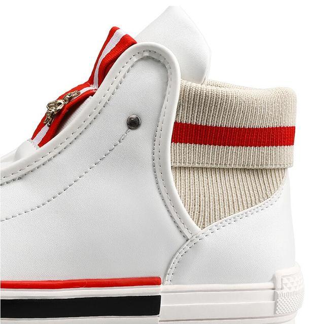 Zapatos de tabla de abeja para hombre y mujer, de Corea del Sur de diseñador de marca, informales, planos, de talla grande, Blanco pequeño, A5 3