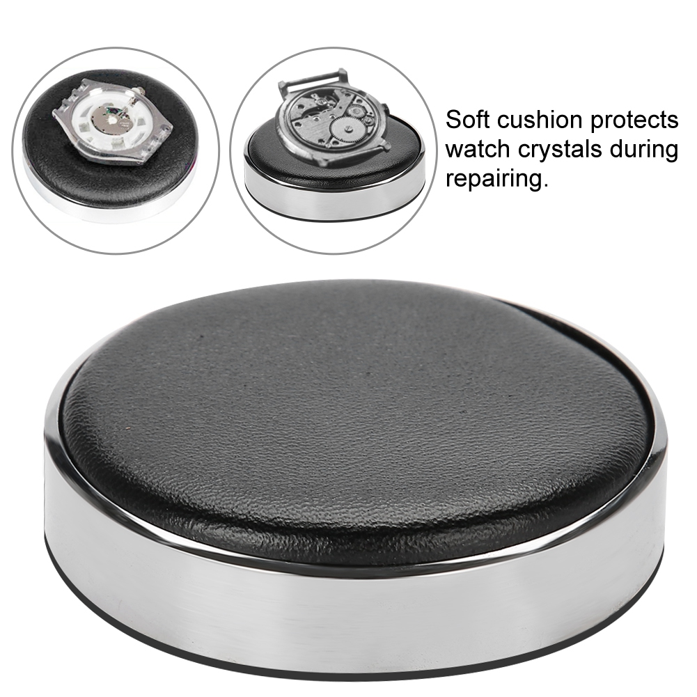 Watch Movement Casing Cushion Leather Protective Pad Holder for Watchmaker Watch Part Glass Repair Battery Change Tool 53/70mm