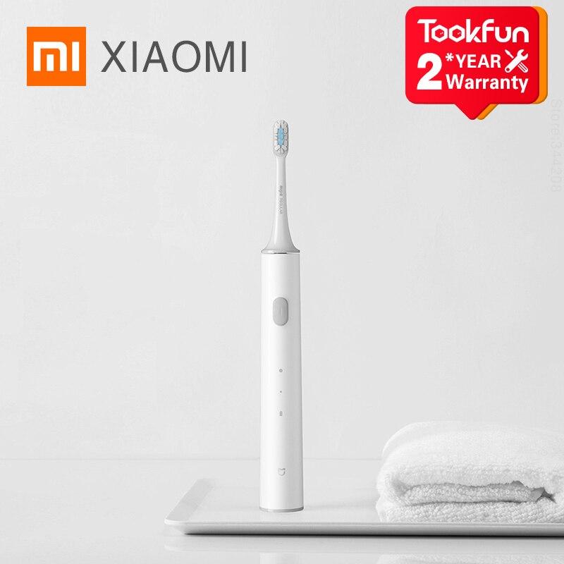 2020 XIAOMI MIJIA T300 Elektrische Zahnbürste Bleaching Zähne vibrator Drahtlose Oral Smart Sonic Pinsel Ultraschall Hygiene Reiniger
