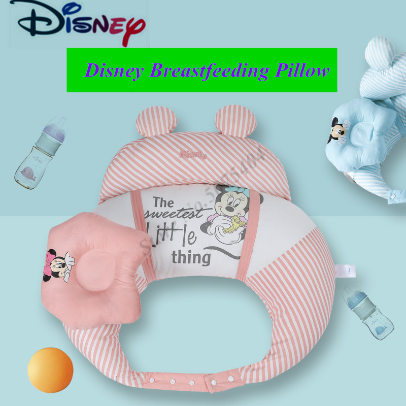 Disney Newborn Baby Nursing Pillows Maternity U-Shaped Breastfeeding Pillow Infant Cuddle Cotton Feeding Waist Cushion Baby Care