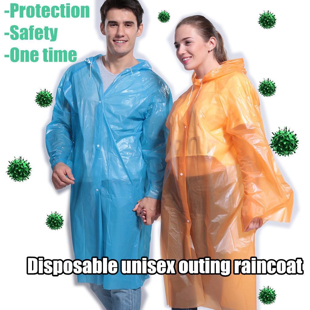 Raincoat Disposable Dust Proof Adult Raincoat Transparent Protective Jacket Protects raincoats from viruses and bacteria#25(China)