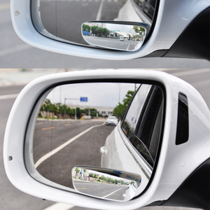Image 3 - 2Pcs Car Arc Wide angle Rearview Mirror Clear Slim Blind Spot Reversing Glass Convex Rear View Mirror Parking Mirror for SUV Car