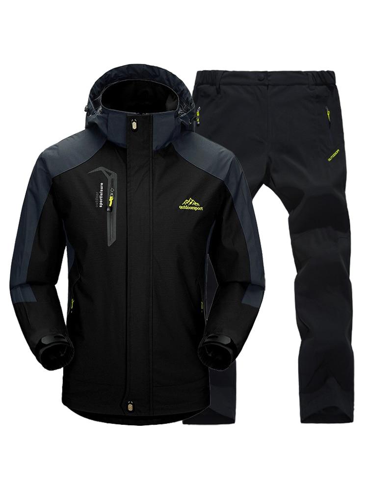 Trekking Coat Pants Trousers Suit Jacket Windbreak Outdoor Camping TRVLWEGO Autumn Spring