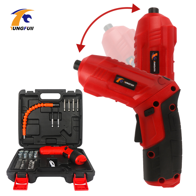 Cordless Electric Screwdriver Bits Kit 4.2V Rechargeable Power Drill Screw Driver Kit With LED Light Mini Wireless Power Driver