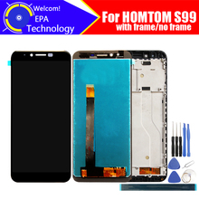 5.5 inç HOMTOM S99 LCD ekran + dokunmatik ekranlı sayısallaştırıcı grup 100% orijinal yeni LCD + dokunmatik Digitizer için S99