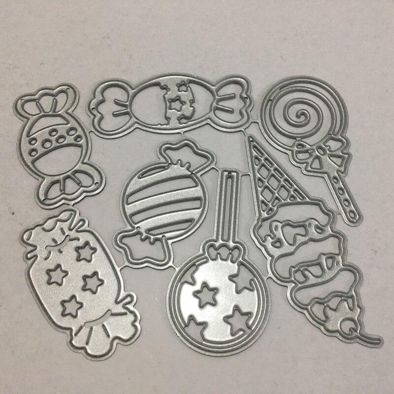 Candy Frame Set Metal Cutting Dies Lollipop Die Cut Stencil Scrapbooking Embossing 2019 New Christmas Craft Stamps And Dies