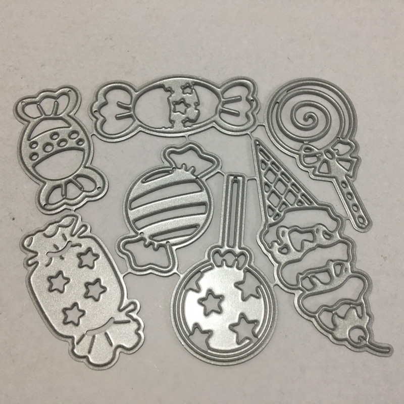 Candy Frame Set Metal <font><b>Cutting</b></font> <font><b>Dies</b></font> Lollipop <font><b>Die</b></font> Cut Stencil Scrapbooking Embossing <font><b>2019</b></font> New <font><b>Christmas</b></font> Craft <font><b>Stamps</b></font> <font><b>And</b></font> <font><b>Dies</b></font> image
