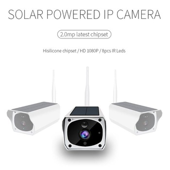 Solar WiFi IP Camera 1080P HD Wireless Security Camera PIR Motion Home Detector 1