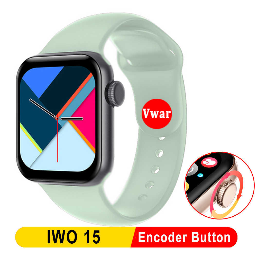 2020 Vwar Iwo 15 Smart Watch dengan Encoder Tombol IP68 Tahan Air Kebugaran Tracker untuk Apple Android Ponsel IWO15 40Mm smartwatch