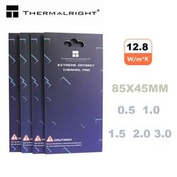 Almofada térmica thermalright 85x45 12.8 w/mk 0.5mm 1.0mm 1.5mm 2.0mm condutibilidade térmica eficiente alta original autêntico