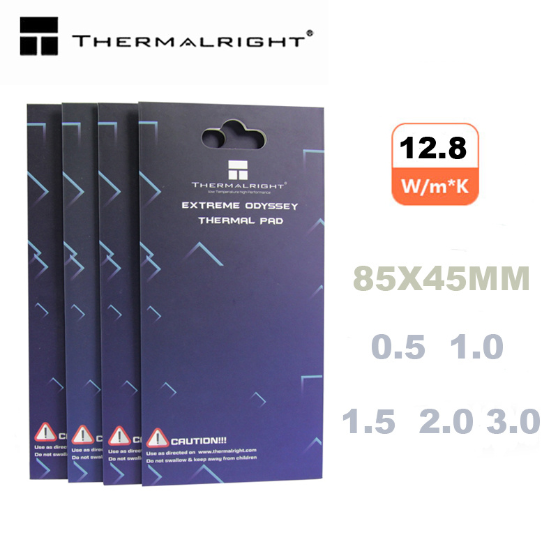 Thermalright Thermal Pad 85X45 12.8 W/mK 0.5mm 1.0mm 1.5mm 2.0mm  High Efficient Thermal Conductivity Original Authentic