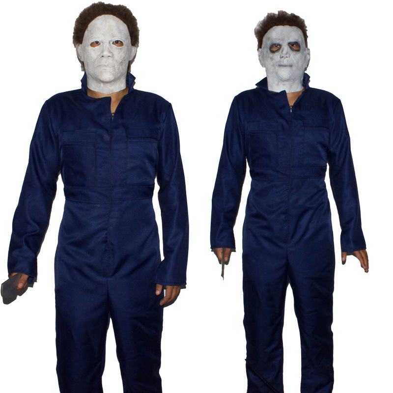 Horror Killer Cosplay Props Halloween Michael Myers Costume for Adult