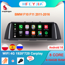 Multimedia-Screen Carplay Android F11 1920--720 Bmw F10 Navi 4G for 4/64GB IPS Auto GPS