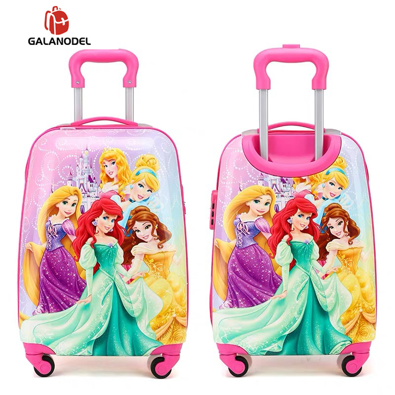 19 Inch Carry-on Suitcase With Wheels Kids Spinner Luggage Carton Travel Rolling Luggage Trolley Bags Children's Suitcase Lovely
