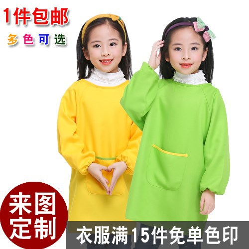 CHILDREN'S Painting For The Waterproof Apron GIRL'S Art Students Children Cover Protective Clothing Bib For Students