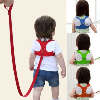 цена на Kids Anti-Lost Traction Cable Anti-Lost Rope Wing Cartoon Children's Anti-lost Safety Straps Wings angel Anti Drop Towing Rope