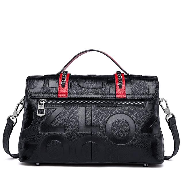 ZOOLER Vintage Fashion patchwork Genuine Leather Luxury Handbags Women Bags Designer Female Shoulder Bag Ladies Tote Bags YC206