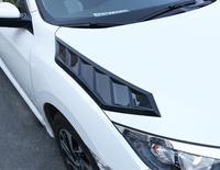 ABS Cromo Do Carro Fluxo de Ar Entrada de Ventilação Da Colher Da Capa de Ventilação Bonnet Capa Para 16 18 HONDA CIVIC 2016 2017 2018|Estilo de cromo| |  -