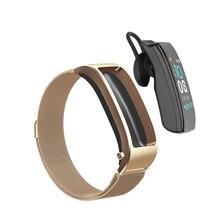 B5s Bluetooth kulaklık kablosuz kulaklık akıllı kulaklık izle mikrofon ile akıllı bilezik su geçirmez dokunmatik ekran müzik çalma