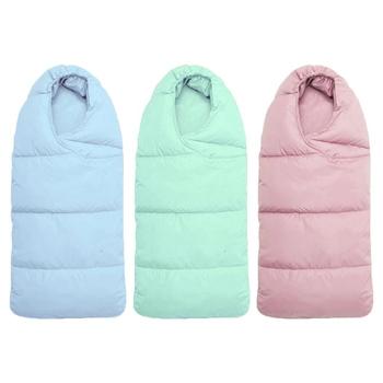 Zimowe ciepłe śpiwory dziecięce miękkie koperty dziecięce śpiwory dla noworodka poręczny wózek dziecięcy koc śpiący wózek dziecięcy tanie i dobre opinie W wieku 0-6m baby Stałe CN (pochodzenie) Sleepsacks Unisex