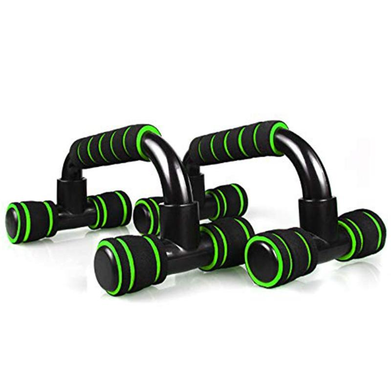 1 Pair H-shape Aluminum Alloy Home Fitness Push-Up Stands Hand Grip Trainer