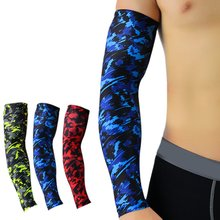 1 pçs respirável de secagem rápida proteção uv correndo braço mangas almofada cotovelo basquete fitness armguards esportes ciclismo aquecedores braço