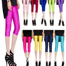 Chsdcsi женские брюки для девочек из спандекса блестящие однотонные
