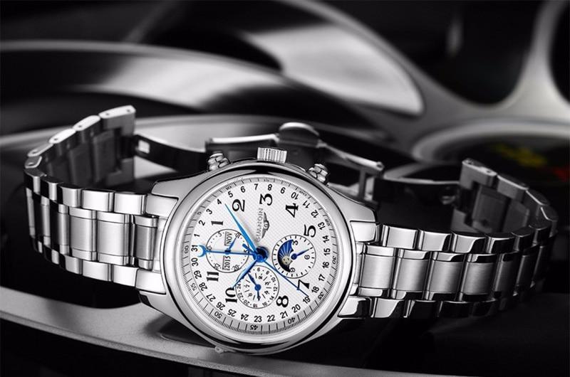 Hd5926b6c7fed4a69bab73853fd329b1eP GUANQIN Automatic Mechanical Men Watches Top Brand Luxury Waterproof date Calendar Moon Leather Wristwatch Relogio Masculino A