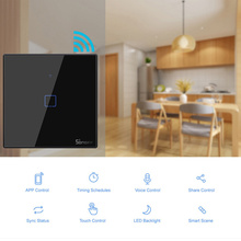 SONOFF T3 TX WiFi Smart Switche with 1/2/3 Gangs Wifi Switch for   Alexa Google Home Home Automation EU/UK/US