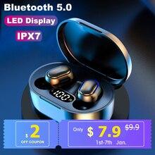 A7S TWS 5.0 Bluetooth Earphones Wireless Headphones IPX7 Waterproof Headset LED Power Display 9D Ste