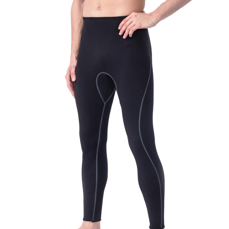 Neoprene Wetsuit Pants Trousers Scuba-Diving-Snorkeling Surfing Swimming Mens Warm Black title=
