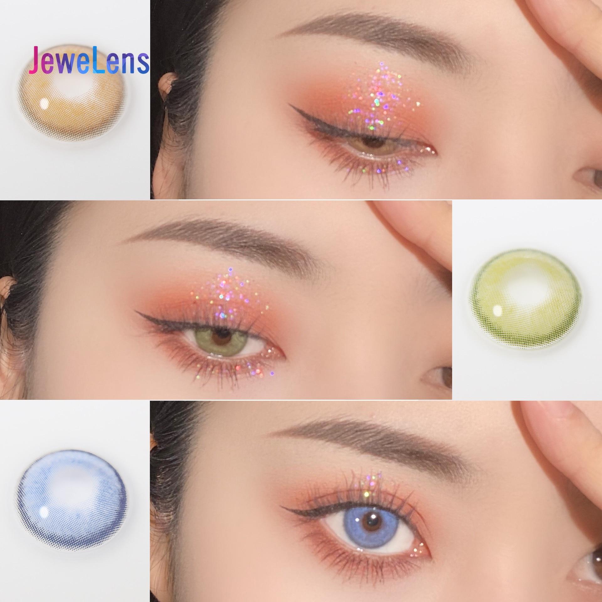 Цветные контактные линзы Jewelens ed, цветные линзы для глаз, косметические линзы Eyecontact, Коричневые Мягкие контакты серии Sorayama
