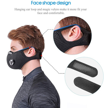 Sport Dustproof Reusable Activated Carbon Mask Filtration Gas Anti Pollen Allergy Outdoor Running Motorcycle Cycling Bike Mask 1