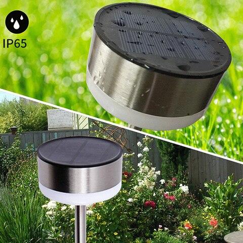 6 led solar promover o crescimento da planta luz patio gramado ao ar livre a