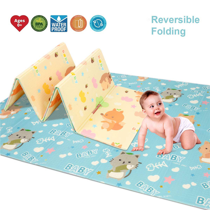 2019 New 180X200CM Baby Mat 1CM Thickness Cartoon XPE Kid Play Mat Foldable Anti-skid Carpet Children Game Mat