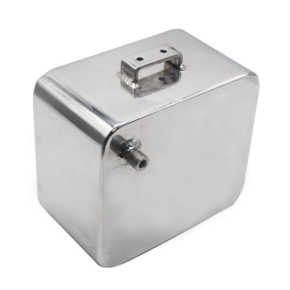 Universel 2L Litre en alliage poli en-tête Expansion réservoir d'eau et bouchon réservoir d'eau en-tête liquide de refroidissement réservoir de débordement réservoir Kit - 4
