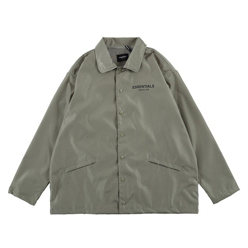 Nagri Europe And America Popular Brand Autumn And Winter New Style Fog Reflective Nylon Men's Instructor Jacket Windproof Rainco