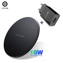 Mobile phone charger Qi Wireless Charger 10W 7.5W 5W for iPhone 11/11pro/xr 8/8 Plus/ s10/S9/S9+/S8/S8+/S7/Note 8/9/10 PowerPort