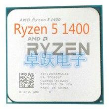 AMD Ryzen 5 1400 R5 1400 3.2 GHz رباعية النواة معالج وحدة المعالجة المركزية المقبس AM4 شحن مجاني