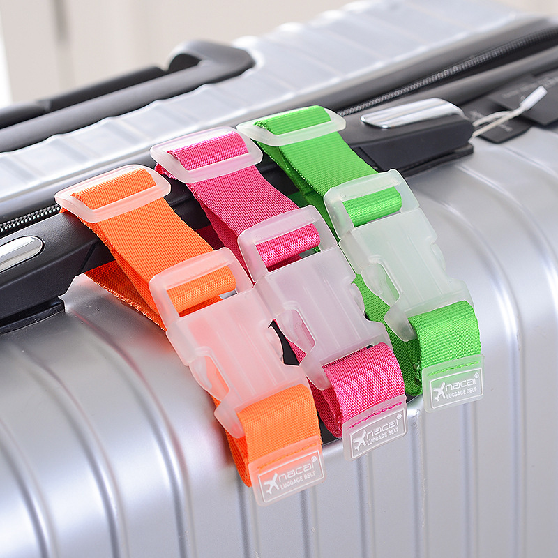 2019 New Adjustable Nylon Luggage Straps Luggage Hanging Buckle Straps Suitcase Bag Straps Tie Down Belt Baggage Buckle Lock