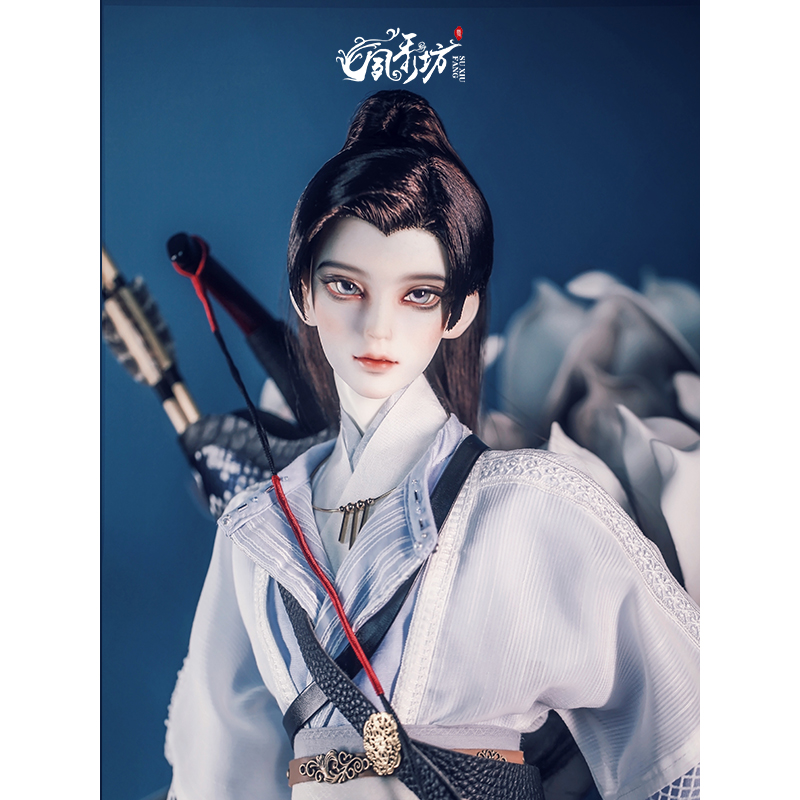 Suxiufang Gongyu BJD wig 3 points small 3 points old style hair with horsetail